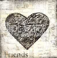 grunge heart collage