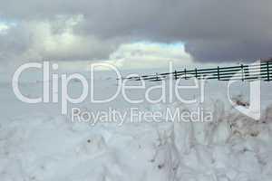 Schneeschutzzaun
