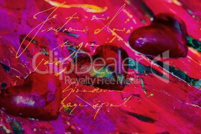 hearts digital illustration