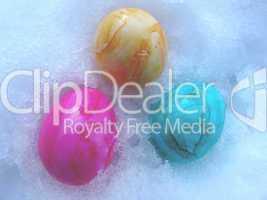Eier im Schnee