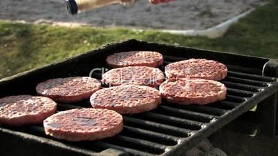 Hamburger grillen