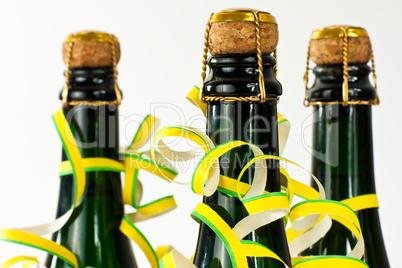 Sektflaschen, champagne bottles