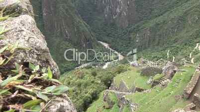 Blick vom Machu Picchu ins Tal