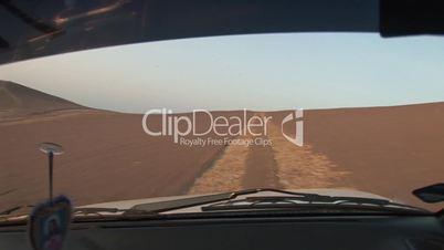 Autofahrt durch Wüste