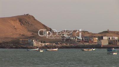 Fischerboot, Bucht, Paracas, Peru