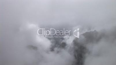 Nebel Zeitraffer, Machu Picchu