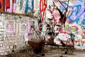Graffiti und Maschine