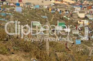 Allerheiligen in Peru auf Friedhof