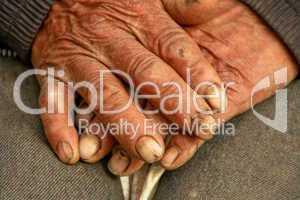 Hände eines Arbeiters