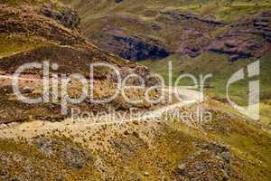 Serpentinen in den Anden
