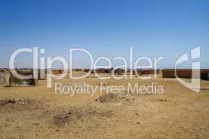 Dorf in Wüste
