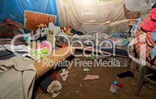 Hütte in Slums (Pueblos Jovenes) von Lima