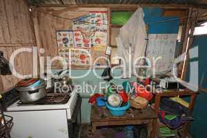 Küche in Slums