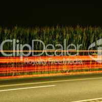 Straße, Langzeitbelichtung