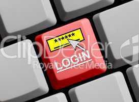 Login - Zugang nur mit Passwort