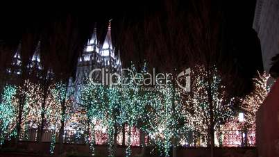 Weihnachtsbeleuchtung - Mormon Temple