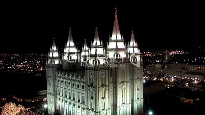 Mormon Temple in Salt Lake City Utah von oben