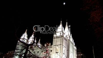 Mormon Temple in Salt Lake City Utah von unten