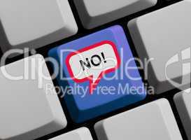 No - Ablehnung online