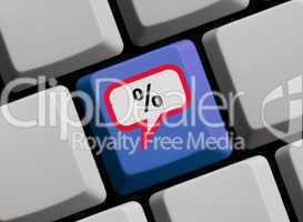 Online Prozente sichern