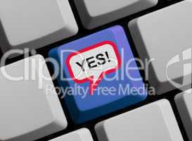 Yes! Zustimmung online