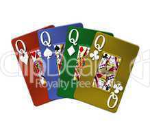 Poker Vierling Quads Damen Queens