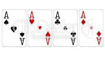 Poker Vierling Quads Asse