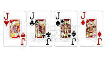 Poker Vierling Quads