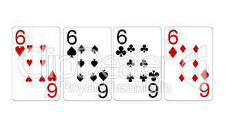 Poker Vierling Quads Sechser 6er