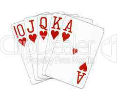 Poker Royal Flush Herz