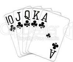 Poker Royal Flush Kreuz Treff