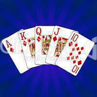 Poker Royal Flush Karo