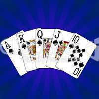 Poker Royal Flush Pik