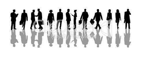Silhouetten von Geschäftsleuten
