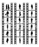 Filmstreifen mit Geschäftsleuten