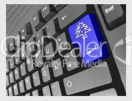 Computer Tastatur mit Spezial-Eingabetaste