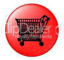 Button mit Einkaufswagen