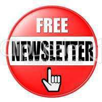 Button kostenloser Newsletter