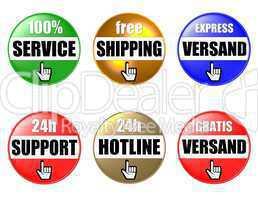 Homepage Buttons Dienstleistung