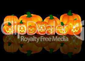 Halloween Kürbis auf dunklem Hintergrund
