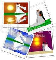 Brautpare in Polaroidrahmen