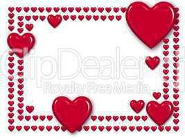 Rahmen mit Herzen