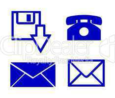 Kommunikationssymbole freigestellt