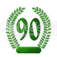 Lorbeerkranz Grün mit Zahl