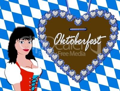 Bayerischer Hintergrund Oktoberfest