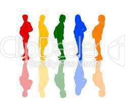 Silhouetten von schwangeren Frauen