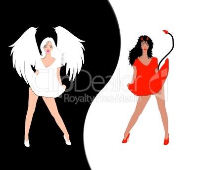Sexy Engelchen und Teufelchen