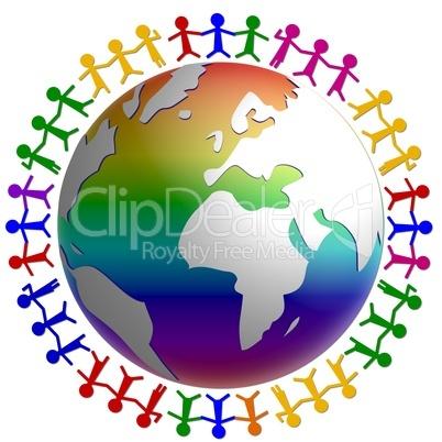 Menschen rund um die Welt