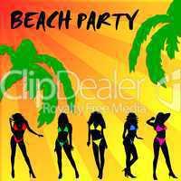 Beach Party Hintergrund