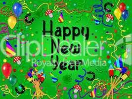 Hintergrund Happy New Year